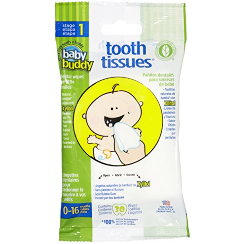 Baby Buddy Tooth Tissues—Innovative 6-Stage Oral Care System Grows With Your Child—Stage 1 for Babies/Toddler—Bubblegum Flavor Kids Love 90 Count 3 x