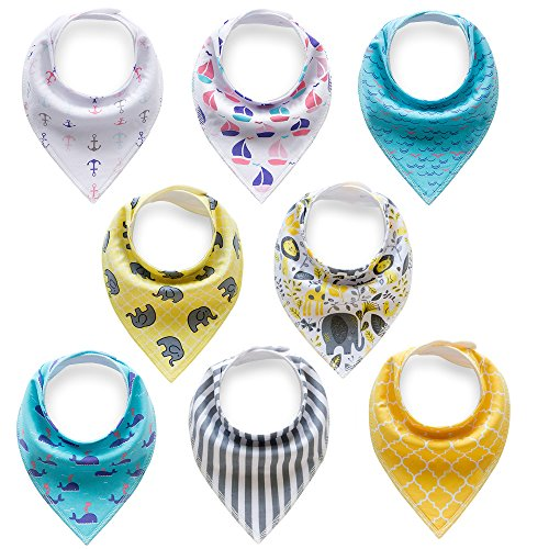 Baby Boys & Girls Bandana Drool Bibs for Drooling & Teething Gift Set