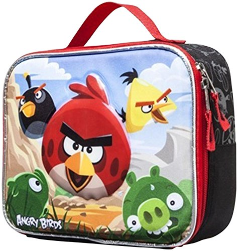 Angry Bird Insulated Lunch Bag - Black & Red Lunch