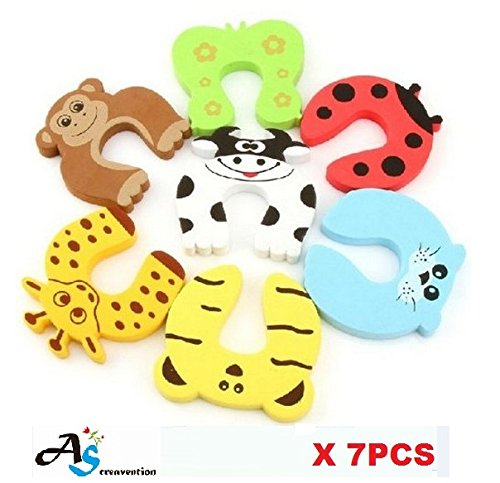 A&S Creavention Child Safety Animal Door Stopper Cushion Foam- Finger Pinch Protector for Home safety Guard- 7PCS