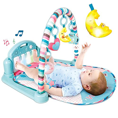 Aroma Trees [UPGRADE] Baby Learn and Play Musical Infant Activity Mat Kick Piano Light and