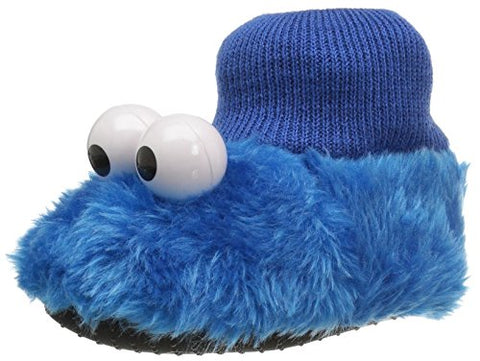 Sesame Street Elmo Cookie Monster Boys Girls Sock Top Slippers (Toddler/Little