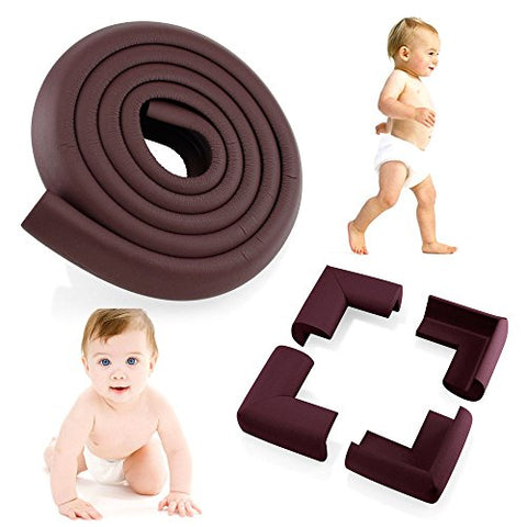 2M Length Table Proofing Edge Corner Guard Baby Foam Safety Toddler Protector 4 Corner Extra Thick (13 mm) Soft Non-Toxic Strip Softener Bumper Protector With Pre-Applied 3M