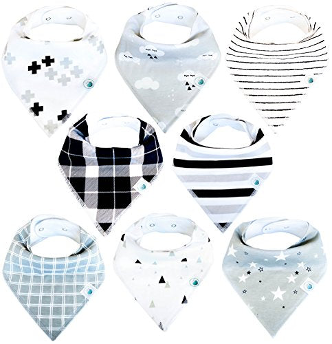 Baby Bandana Drool Bibs Organic 6 Pack for Boys and Girls Absorbent Soft Cotton for Teething Feeding Unisex Baby Shower Gift Set Burp Cloth From Lil