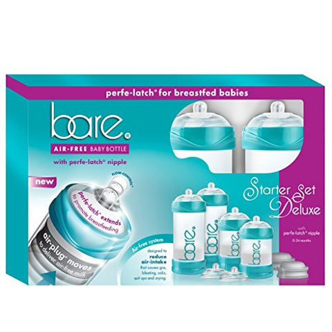 Baby Bottle - Bare Air Free Feeding System, Perfe-Latch Nipple For Breastfed