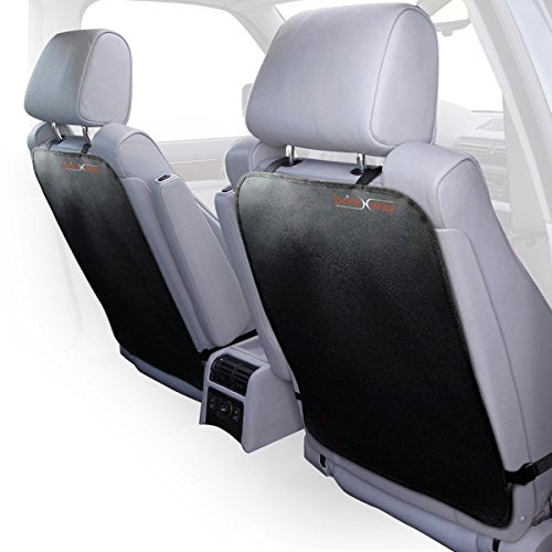 Auto Kick Mats For Full Back Seat Protection From Liquids, Stains, Mud & Dirt-Extra Long, Adjustable Car Seat Back Covers Made Of Durable Fabrics-Top Quality, Universal Car Accessories-Value Pack Of