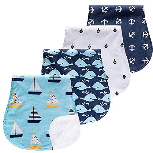Aeeker Burp Cloths Set Baby Burp Cloth for Boys and Girls Premium Large 100% Organic Cotton Absorbent Triple Layer Towels Burping Rags Pads for Newborns, Baby
