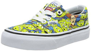 Vans Boys Era Toy Story Skateboarding Shoes Green 2 Medium (D) Little