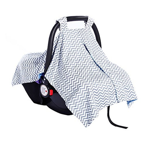2 in 1 Carseat Canopy Cover and Nursing Cover - Universal Fit Infant Baby Car Seat Canopy Stroller Cover | Best Baby Shower Gift for Breastfeeding Moms | Perfect for Both Girls and