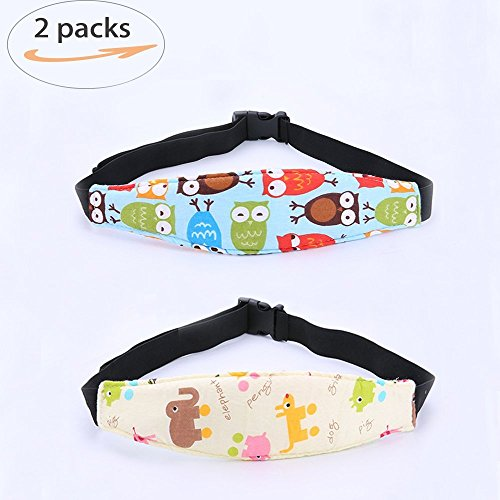 Aochol 2 Pack Toddler Baby Car Seat Sleeping Head Support Band, Infant Pram Stroller Neck Relief Nap Holder with Adjustable Baby Sleep
