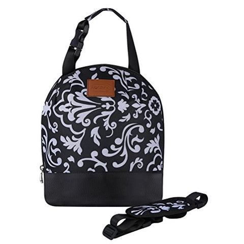 Aosbos Reusable Lunch Bag Insulated Lunch Tote Cooler Bag with Detachable Shoulder Strap for