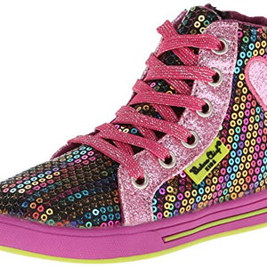 Western Chief Rainbow Glitz Hi-Top Sneaker (Toddler/Little