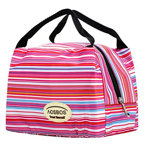 Aosbos Reusable Insulated Lunch Box Tote