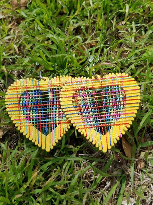 Yellow Love Rainbow Earrings