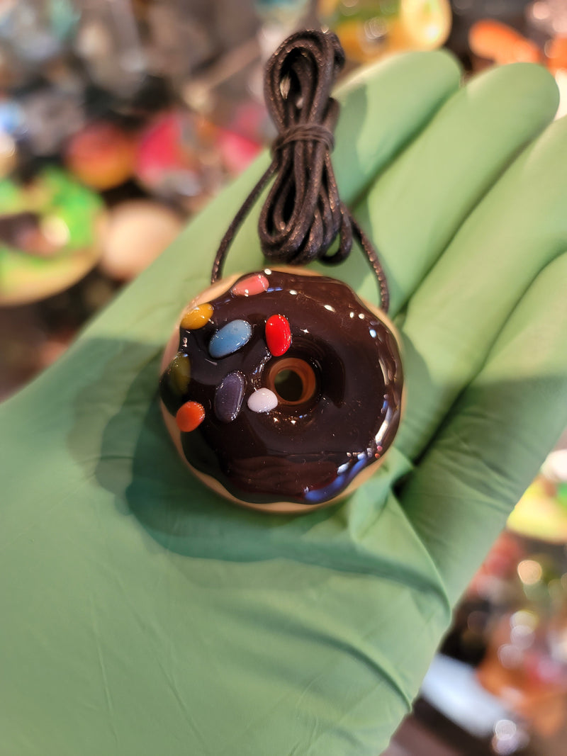 Kgb Glass Pendant chocolate partial sprinkled