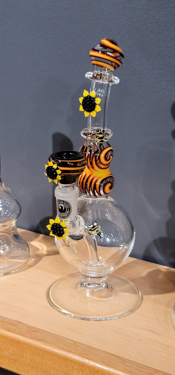 Conversion Glass Sunflowers with Bees