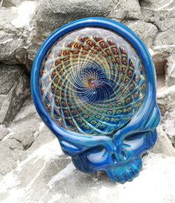 Katherman Glass - Steal Your Face Pendant (Blue)