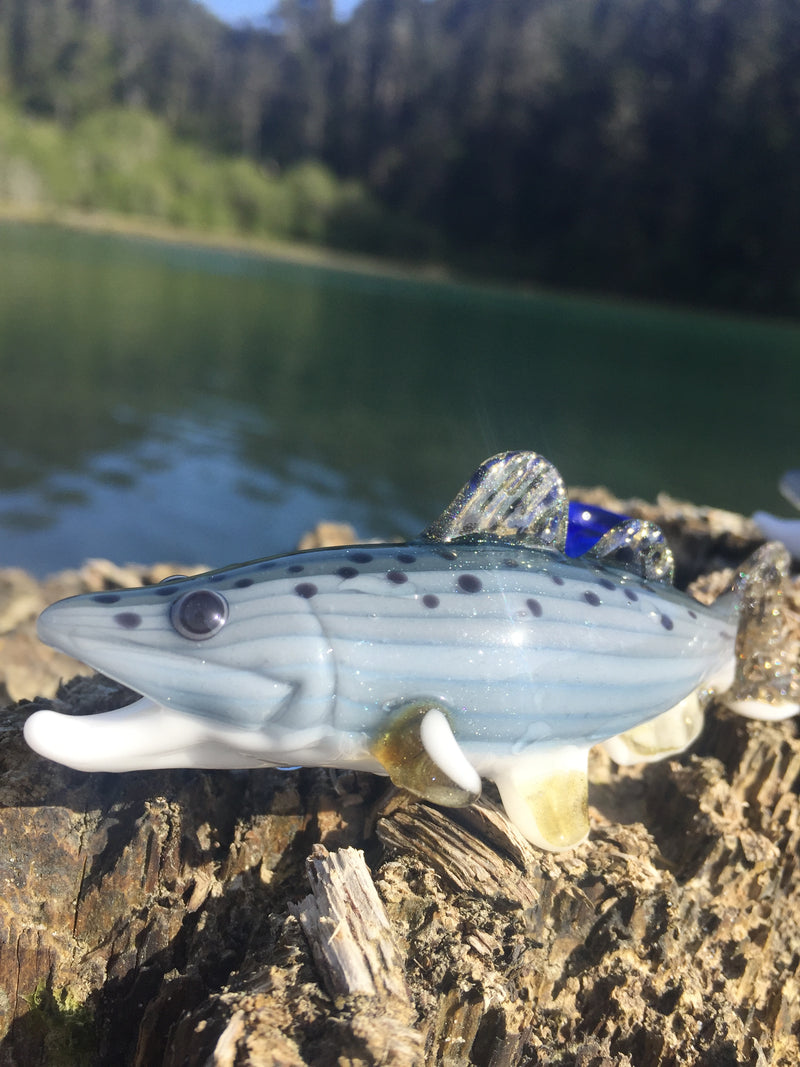 603 Glass King Salmon Pendant