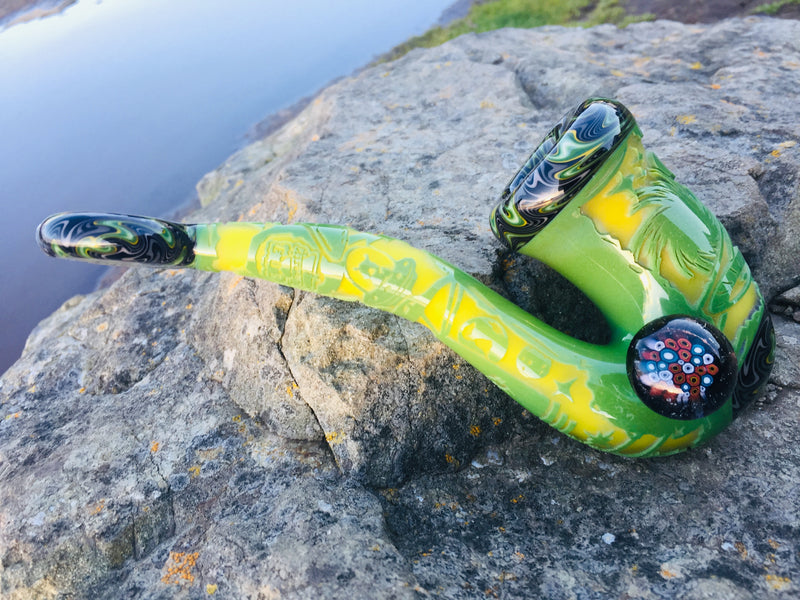 Liberty 503 x Cambria glass collaboration Sherlock's — x1 green space and alien