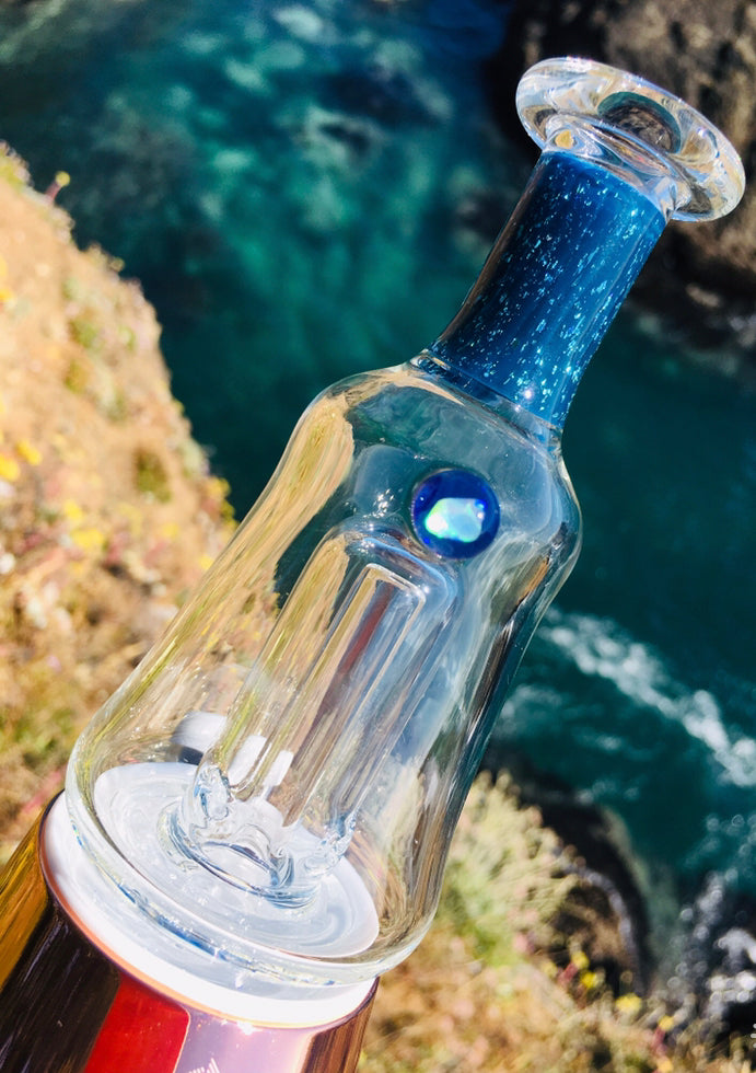 Dust Storm Glass Opal & Dichro Puffco Glass Attachment