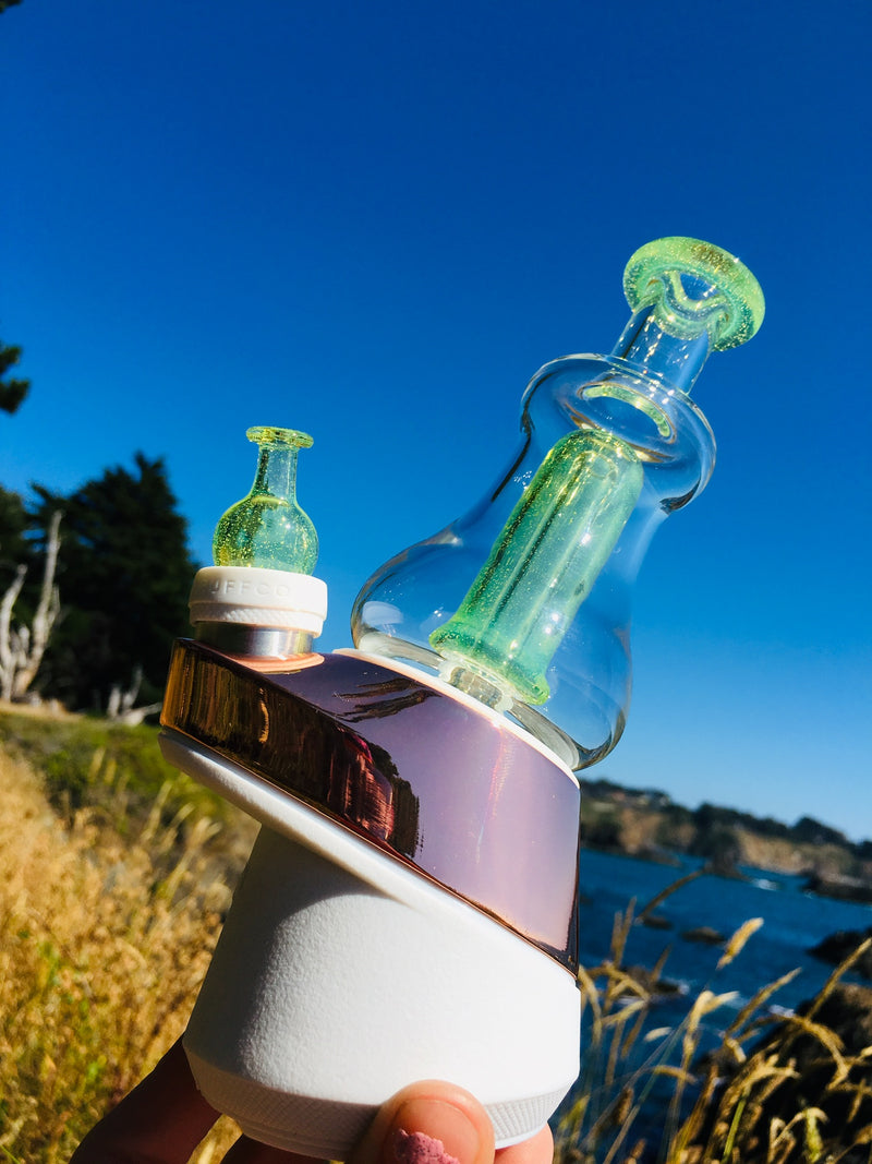 Don Rob Slime Green Puffco Peak Glass Attachment