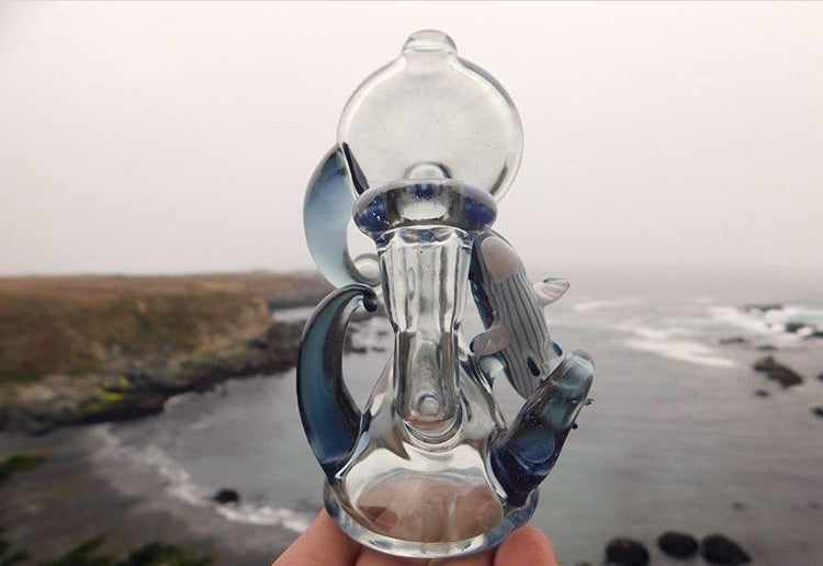 603Glass Salmon Bubbler