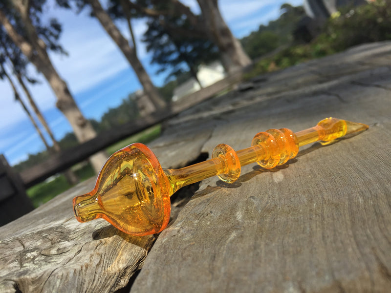 Vigil Glass Orange Bubble Cap Tool