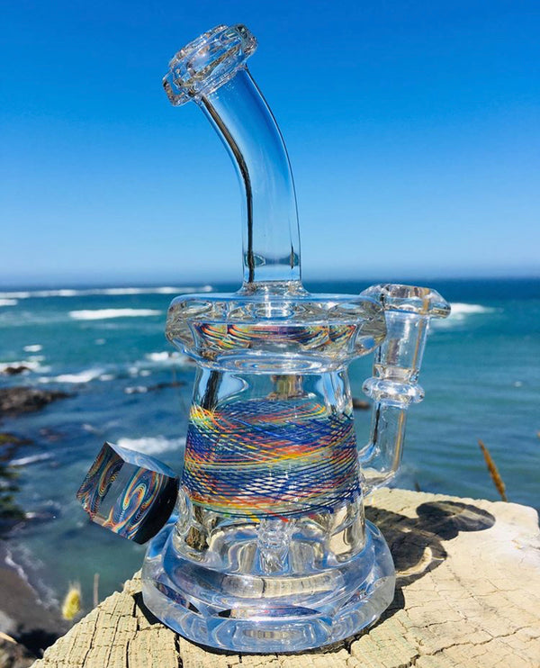 Santo Glass x Jared's Glass Faceted Bubbler