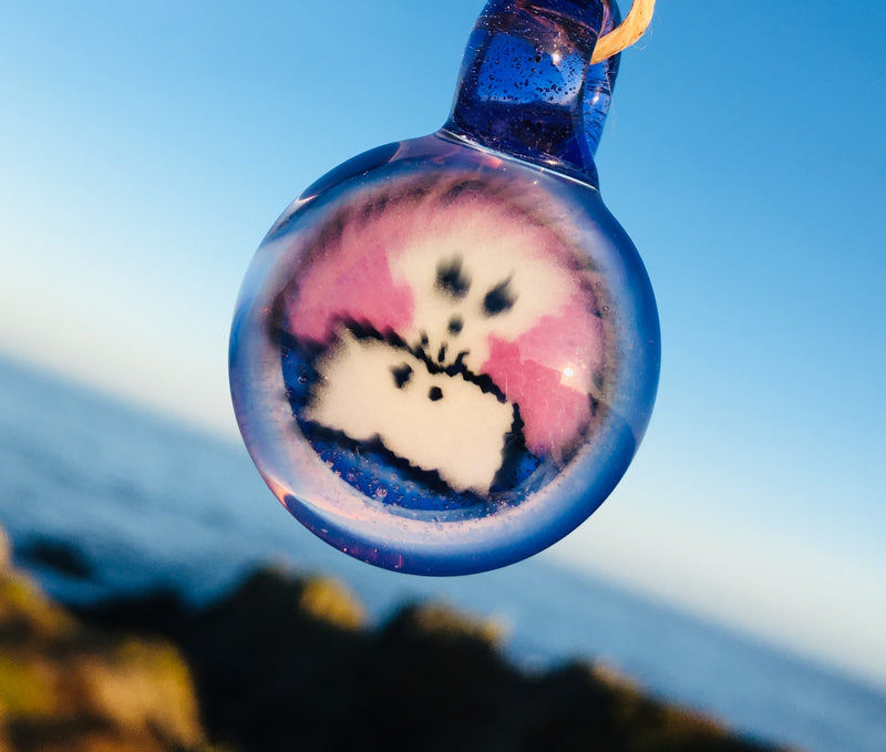 Damninja glass pendants