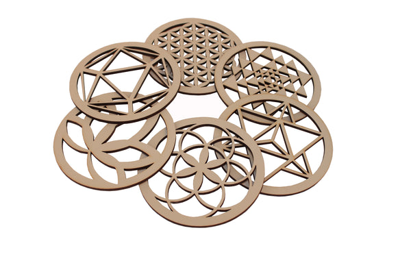 Sacred Geometry Coasters | Set of 6