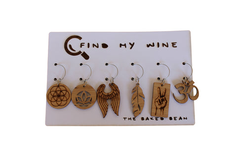 Ananda Bamboo Find My Wine Tags