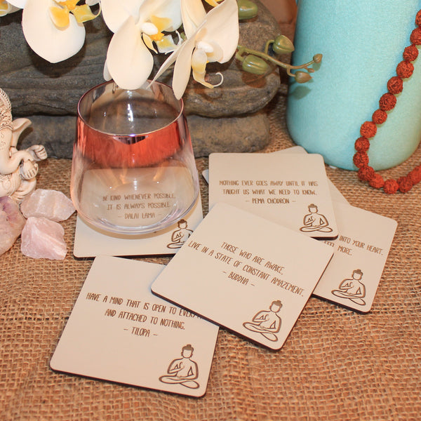 Buddha Coasters - Set of 6