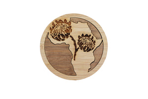 Africa Two-Tone Bamboo Coasters | Set of 6