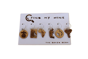 Africa Bamboo Find My Wine Tags