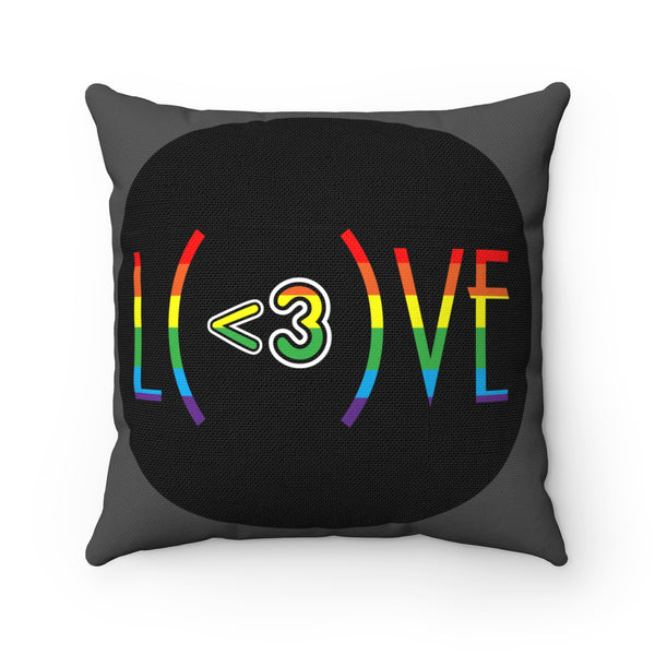 Love My All Gay Pride Square Pillow
