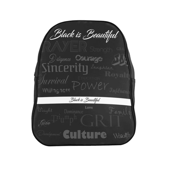 Black America Leather Backpack - PolkTheArtist