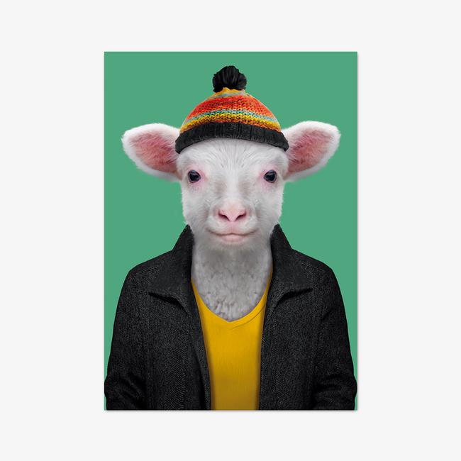 "Postkarte ""Sheep"""