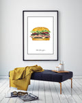 "Art Print ""The Burger"""