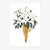 "Art Print ""White Flower Cone"""