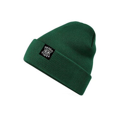 "Beanie ""Never Sleep"" Grün"