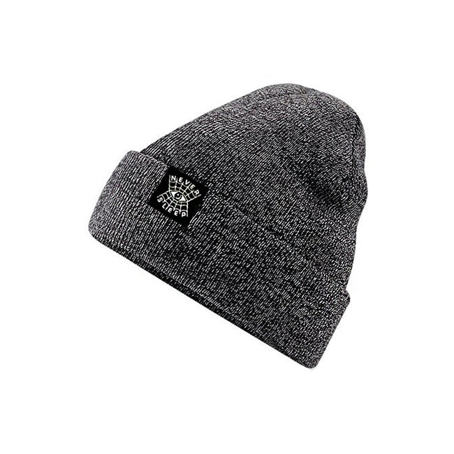 "Beanie ""Never Sleep"" Grau"
