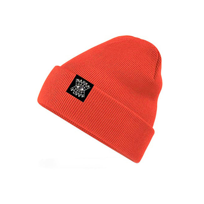 "Beanie ""Never Sleep"" Orange Neon"