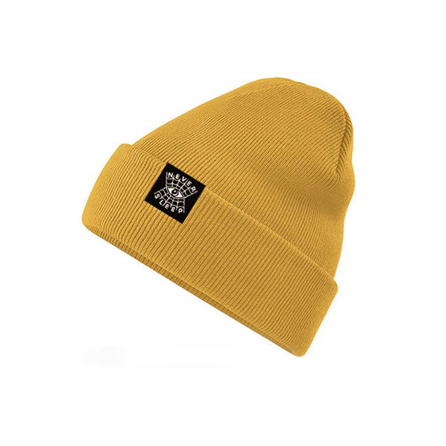 "Beanie ""Never Sleep"" Gelb"