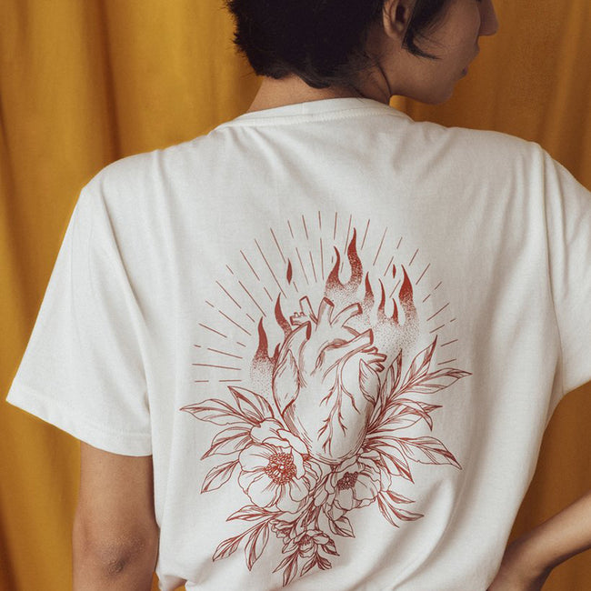 "T-Shirt ""On Fire"" Off White"