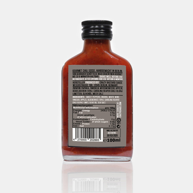 Sauce Carolina Reaper & Blueberry, 100ml
