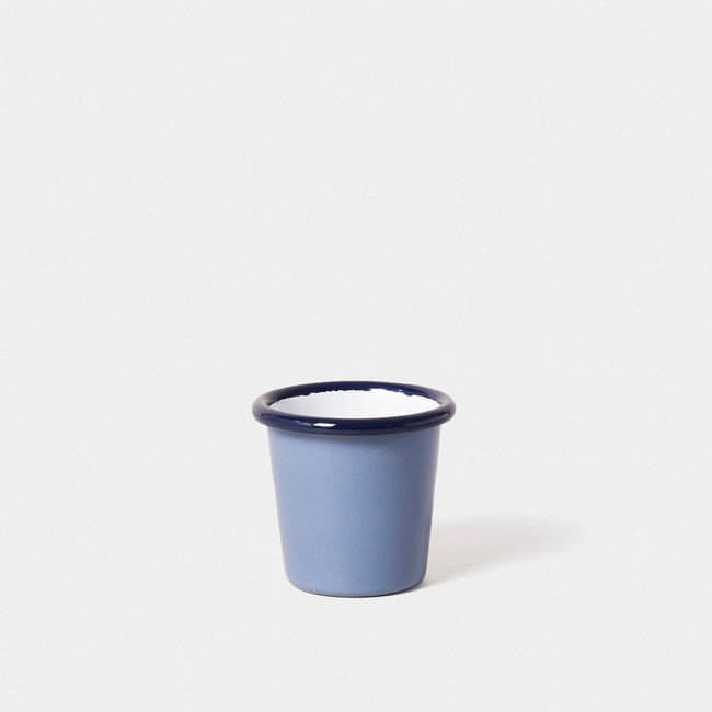 Emaille Mini Becher Lavendelblau
