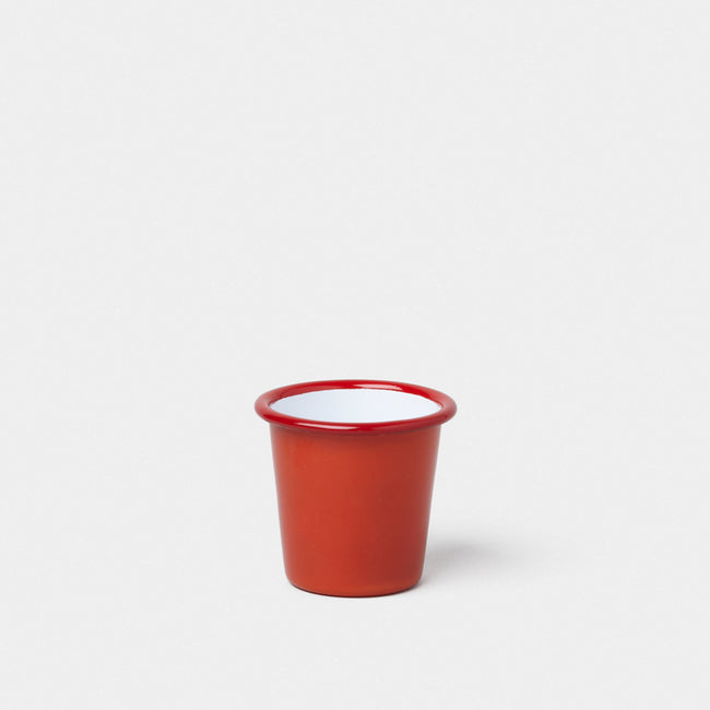 Emaille Mini Becher Rot