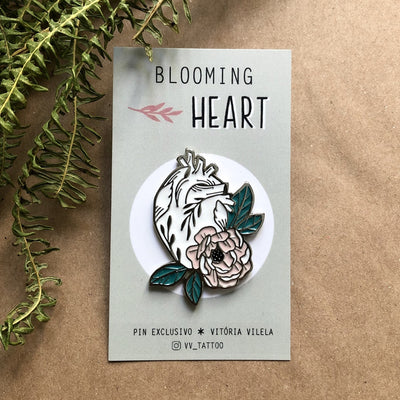 "Pin ""Blooming Heart"""