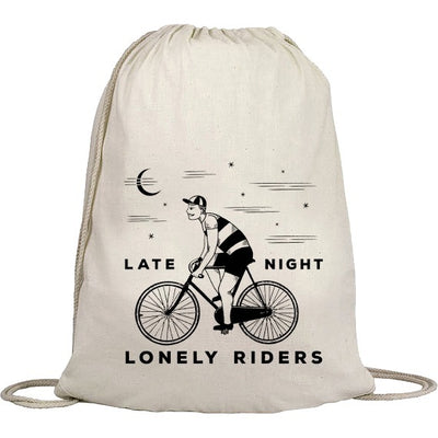 "Turnbeutel ""Late Night Lonely Riders"" Natur"