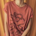 "T-Shirt ""Snakes"" Brick Red"